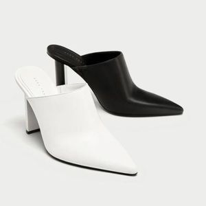 ⚪️Limited edition⚫️Zara two tone mules